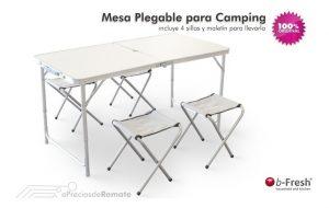 mesa camping plegable con sillas - La mejor lista para comprar Online
