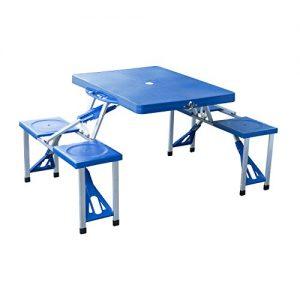 mesa plegable con sillas incorporadas - Catálogo de el TOP 10